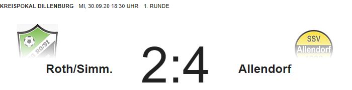 Pokalaus gegen Allendorf